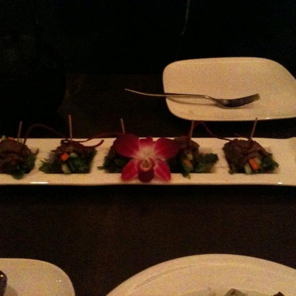Wasabi Beef Rolls @ Osha Thai Glen Park