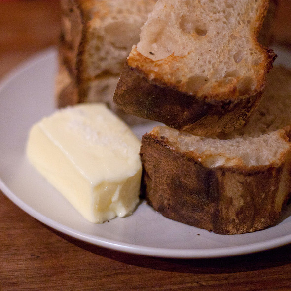 Levain Toast with Homemade Butter @ Outerlands