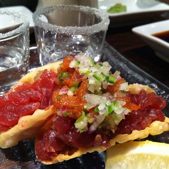 Tuna Tacos @ Saké Restaurant & Bar