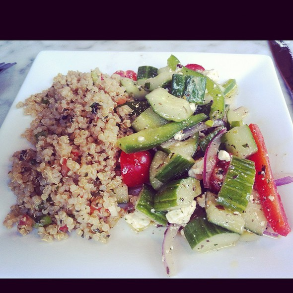 Greek Salad And Quinoa  @ Patachou Patisserie