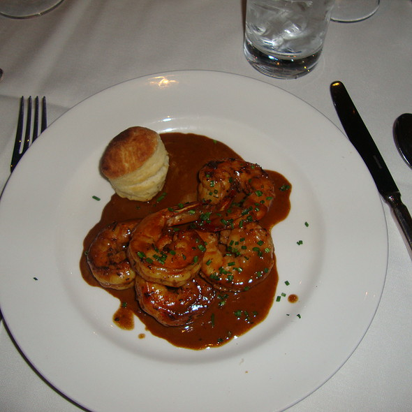 BBQ Shrimp & A Buttermilk Biscuit @ Delmonico's Steakhouse