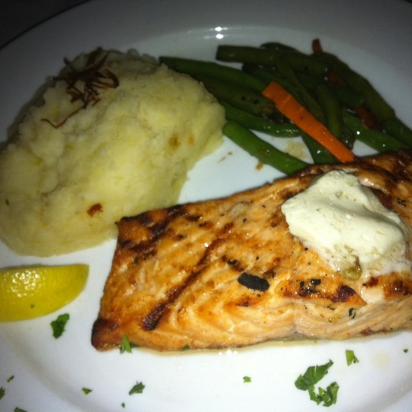 Grilled Salmon With Potatoes And Green Beans - Grape Street Café, Las Vegas, NV