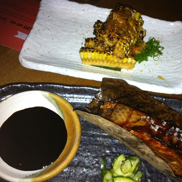 Grilled Salmon And Corn @ Roka Akor Chicago