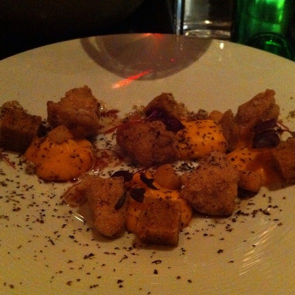 Sweetbreads And Pumpkin Puree @ SPQR
