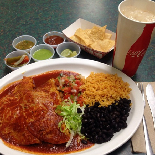 Tuesday's Special Two Enchiladas Combo Plate