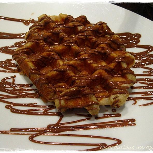 Belgian Waffle @ Max Brenner Chocolate Bar