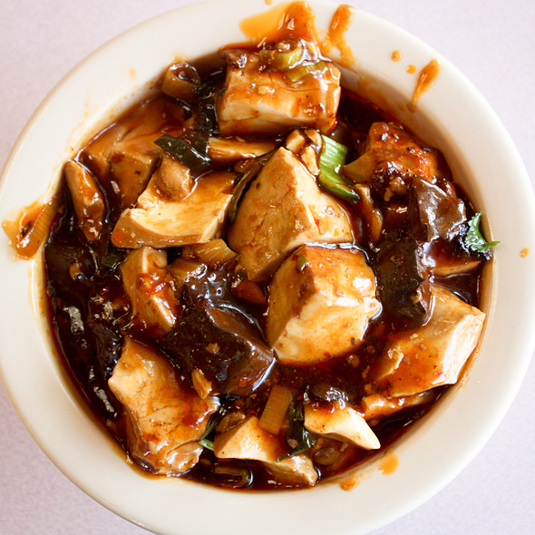 Stir-fried Porkblood with Tofu @ The Porridge