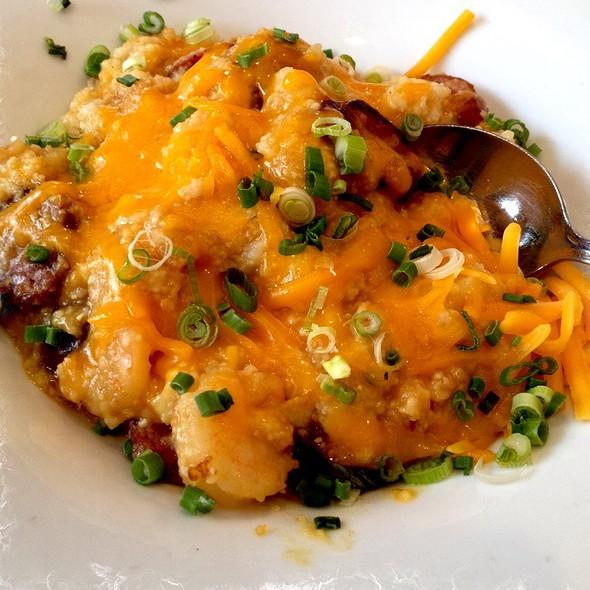 Cheesy Grits With Andouille & Shrimp @ Benedict's La Strata