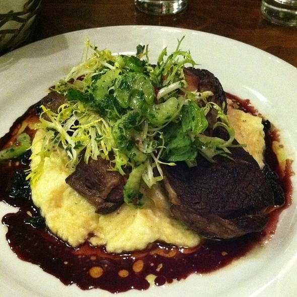 Braised Lamb Shank W/ Cabernet Sauce & Spinach Mashed Potatoes @ Wood Tavern