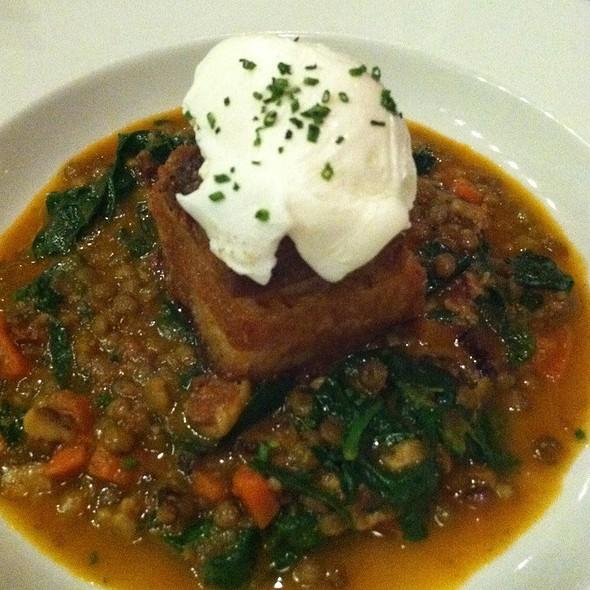 Crispy Pork Belly W/ Poached Egg @ Wood Tavern