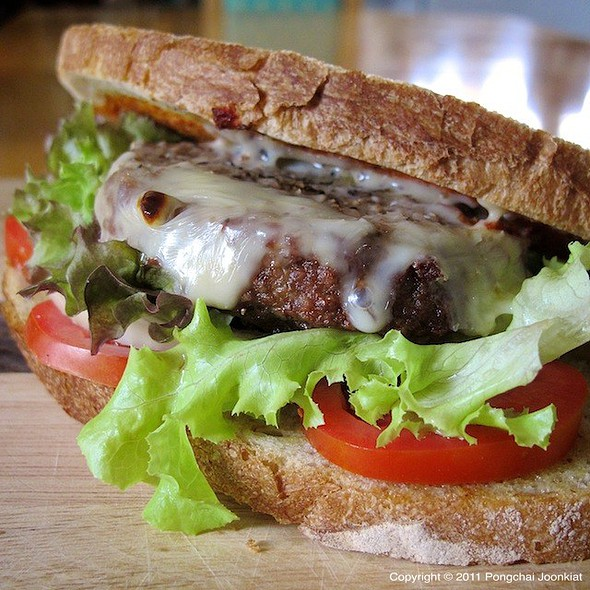 Beef Patty Sandwich with Cheese @ Pongchai's
