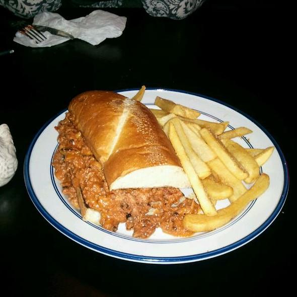 """Sloppy Ned"" sandwich @ Mind your Own Business Restaurant"