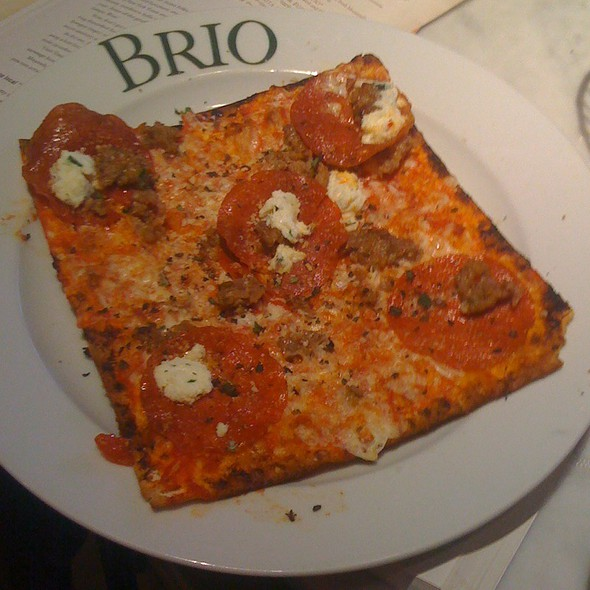 Sausage & Pepperoni Flatbread Pizza - BRIO Tuscan Grille - Atlanta - Perimeter, Dunwoody, GA