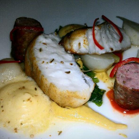 Monk Fish w/cockels, Saffron & Lacinato Kale @ AQ Restaurant & Bar