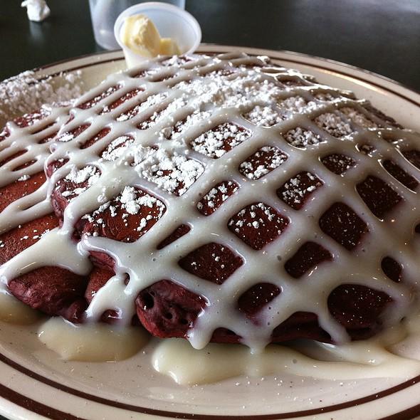 Red Velvet Pancakes @ Norm's Eggs Cafe