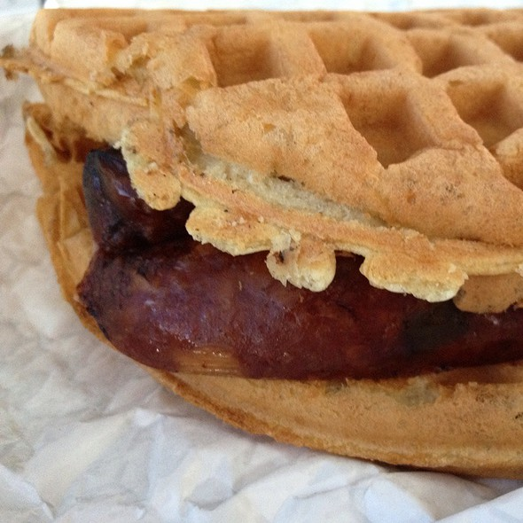 Andouille Sweet Chili Brautwurst Waffle Dog @ Real Good Truck