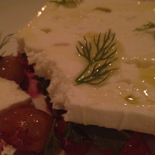 Feta With Grape, Dill @ Dandelion - Amali, New York, NY