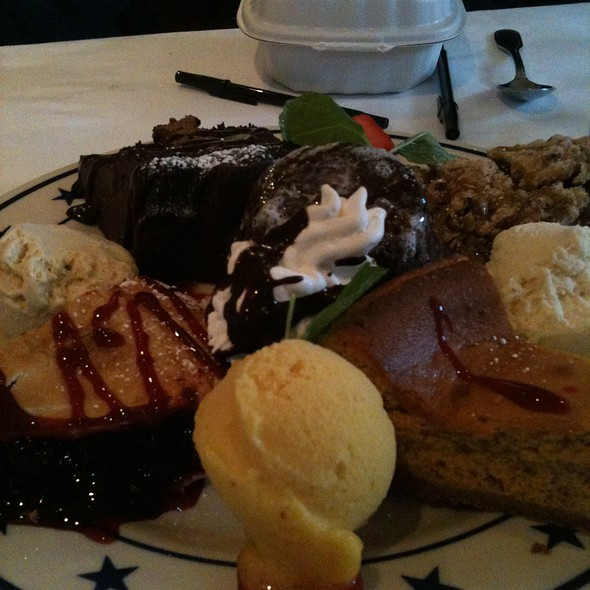 Mixed Dessert Platter - Tarpy's Roadhouse, Monterey, CA