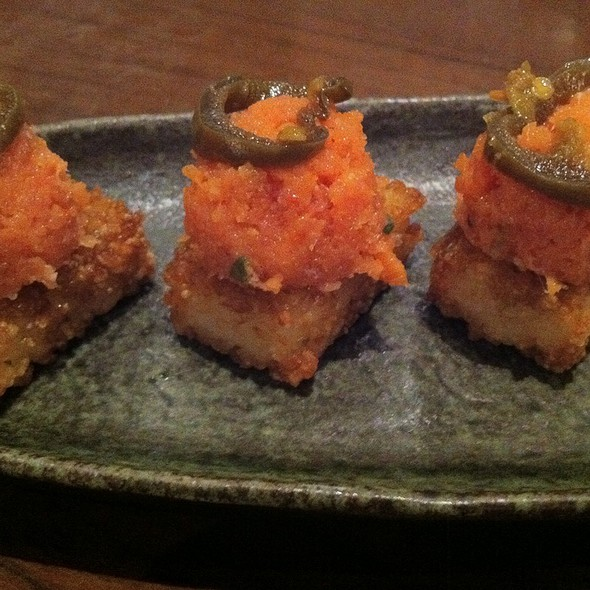 Spicy Tuna On Crunchy Rice @ Tokyo Table Irvine Jamboree