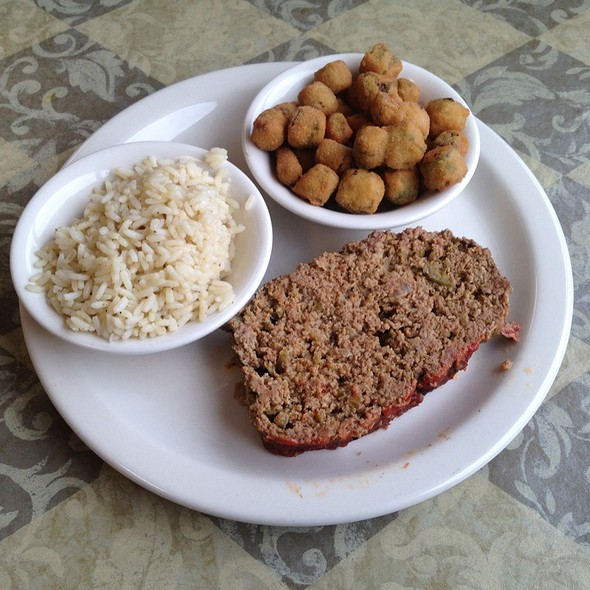 Meatloaf, Okra And Rice