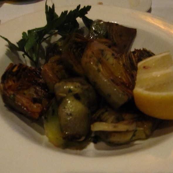 Grilled Artichokes - Toscano Restaurant, Boston, MA