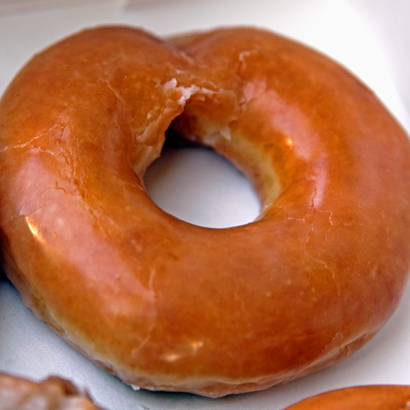 Hot Glazed Doughnut @ Krispy Kreme Warner Robbins