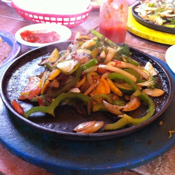 Vegetarian Fajitas @ Los Arcos Mexican Restaurant