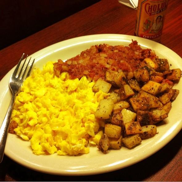 Corn Beef Hash, Eggs & Potatoes @ Fig Tree Cafe LLC
