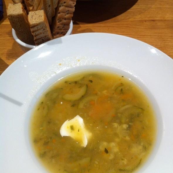 zucchini soup @ Isabella Food & wine