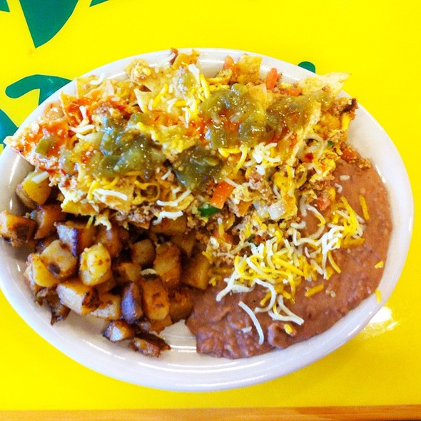 Chilaquiles @ Fuzzy's Taco Shop