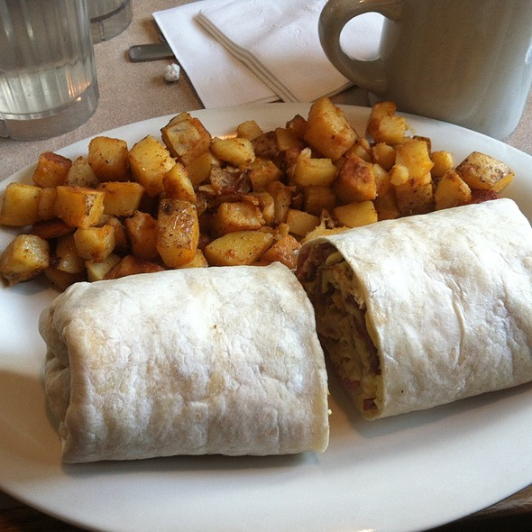 Meat lovers breakfast wrap @ Joy's