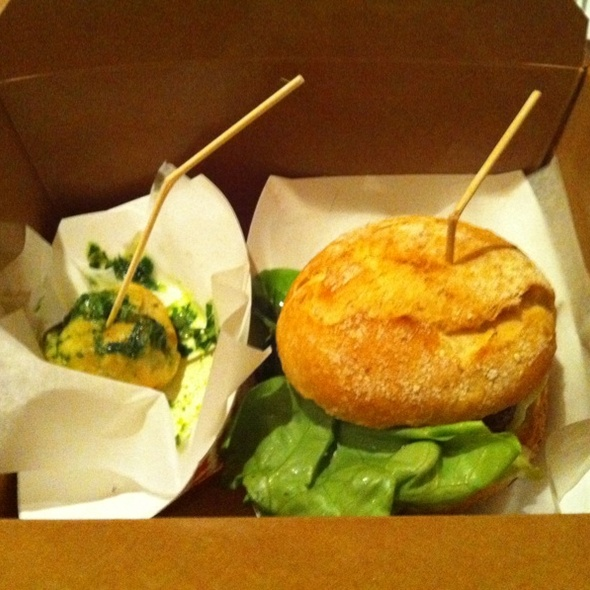 Escargot Puff & Braised Lamb Cheeck Slider @ Spencer To Go