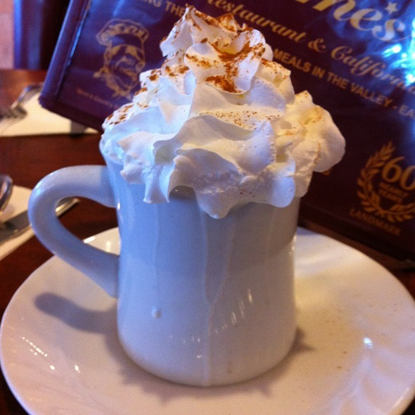 Hot Chocolate with Whipped Cream @ James Restaurant