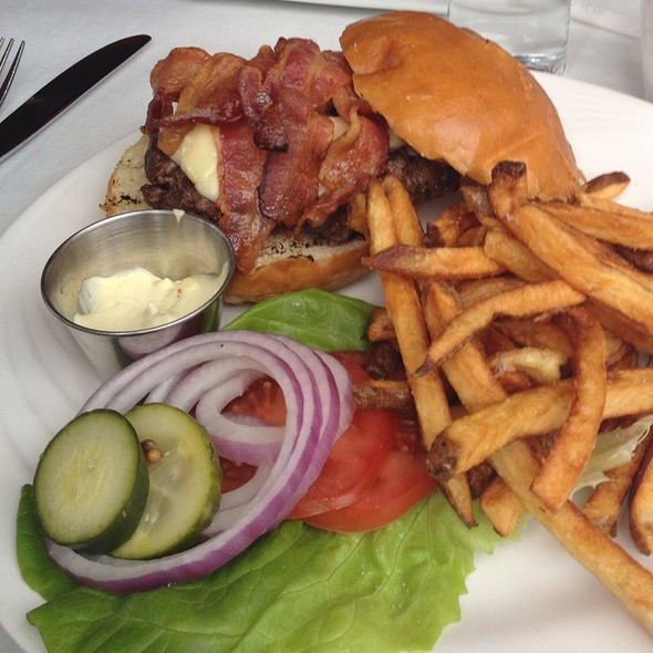 B Bistro Burger With Bacon And Cheese - b, A Bolton Hill Bistro, Baltimore, MD