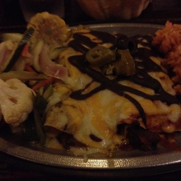 Mushroom Enchiladas @ The Adobe Cafe