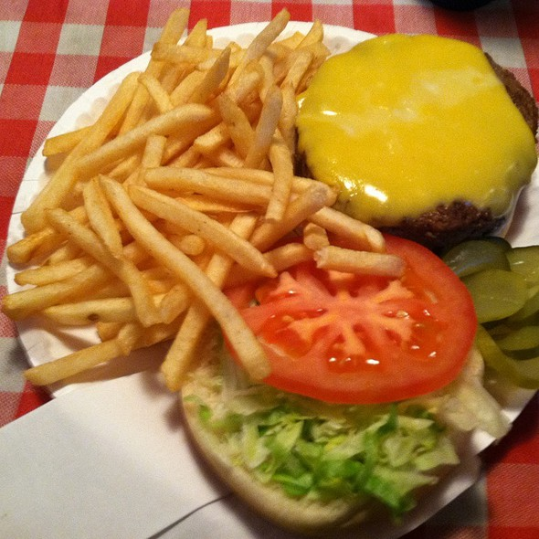 Cheeseburger @ Quatman Cafe Inc