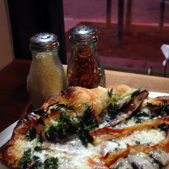 Mushroom, Pancetta and Nettle Pizza @ Ragazza