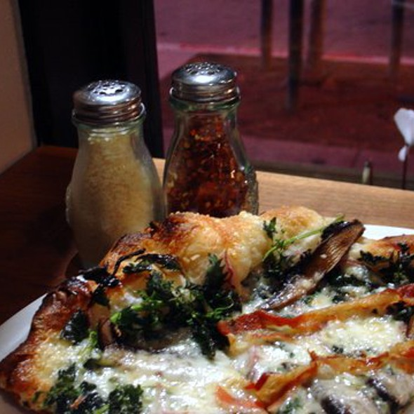 Mushroom, Pancetta and Nettle Pizza @ Ragazza