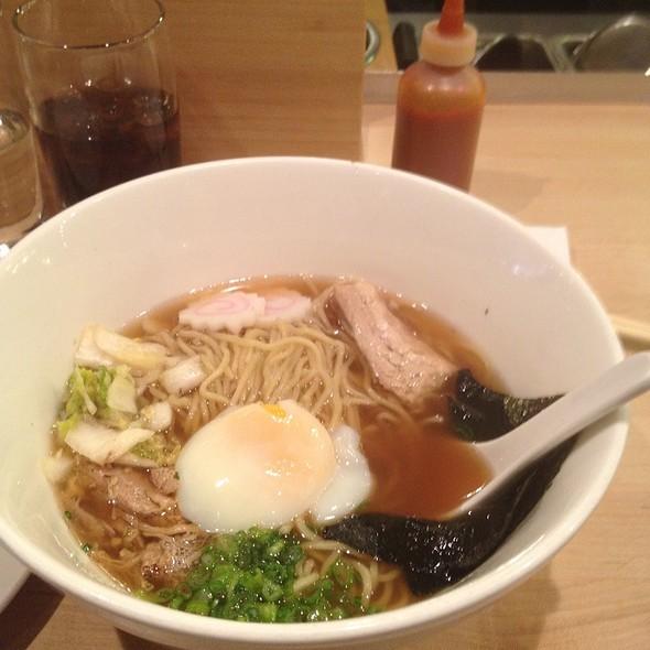Momofuku Ramen - Pork Belly, Pork Shoulder & Poached Egg.  @ Momofuku Noodle Bar