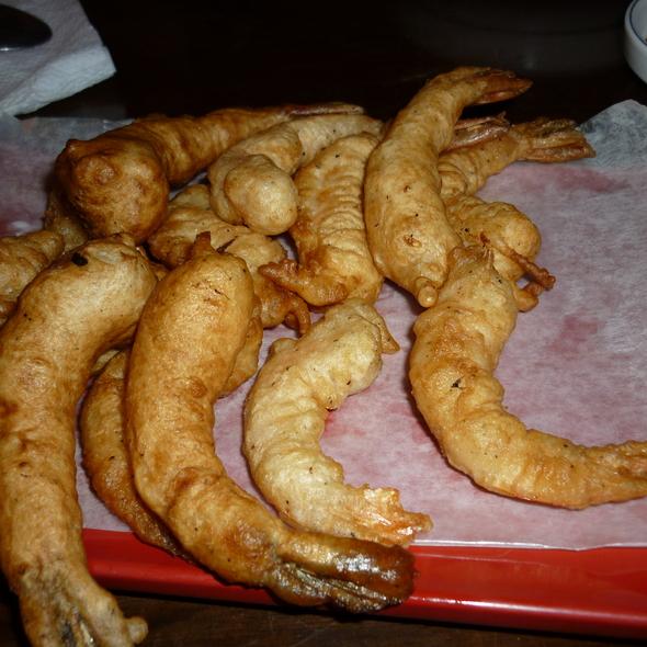 Fried Prawns in Tamarind Sauce (Tôm Rang Sốt Me) @ Restaurante coreano Manna