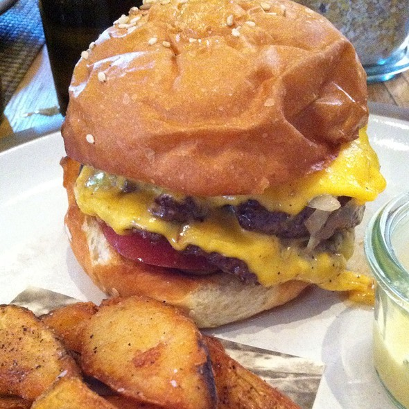 Cheeseburger And Potato Wedges @ Husk Restaurant