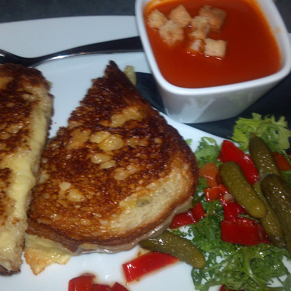 Grilled Cheese and Tomato Soup - BOKA Restaurant + Bar, Seattle, WA