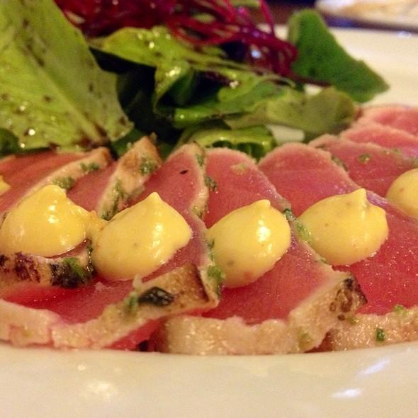 Herb Crusted Tuna With Mustard Sauce