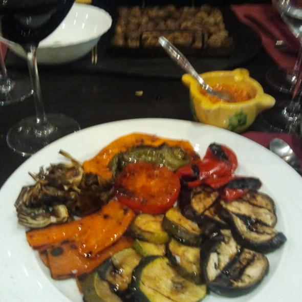 parrillada de verduras con romesco
