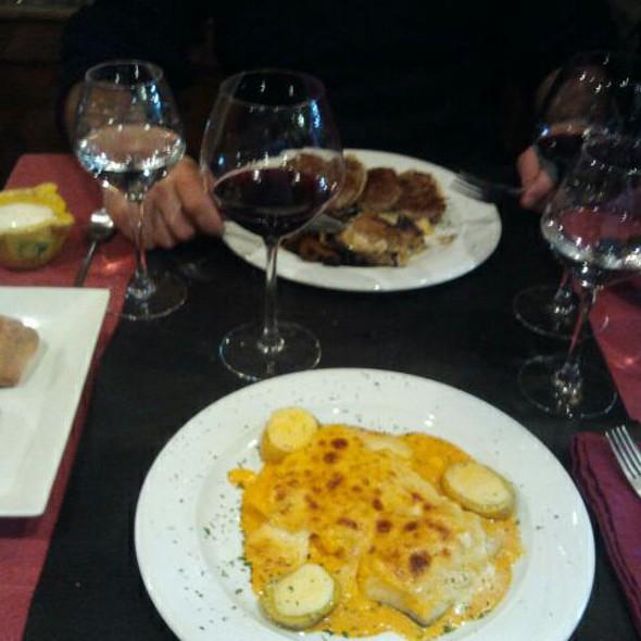 bacalao graten sobre cama de patatas @ Restaurant Lo Raco del Pont