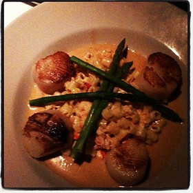 Sea Scallops With Lobster Mac & Cheese