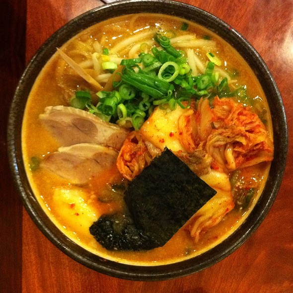 Spicy Miso Ramen With Pork And Kimchi @ Santa Ramen