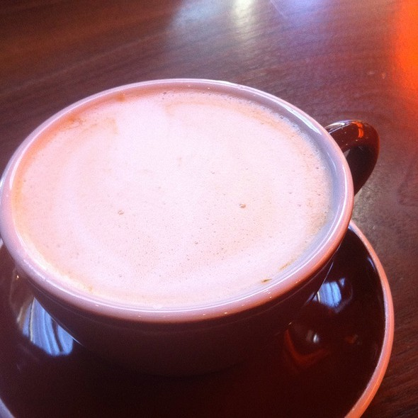 Caramel Steamed Milk @ Caffe Fiore