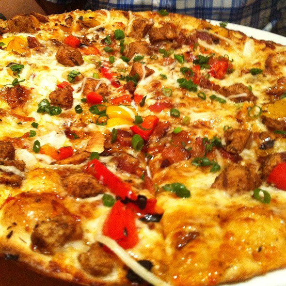 marvelous California Pizza Kitchen Simi Valley #5: Jamaican Jerk Chicken Pizza at California Pizza Kitchen in Simi Valley, Ca