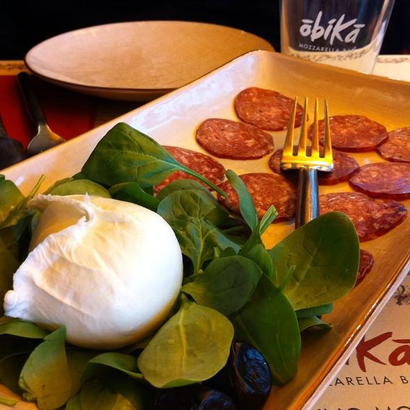 Mozzarella Di Bufala Campana Dop Con Salame Al Tartufo Nero Di Norcia @ Obikà Mozzarella Bar - Milano Duomo